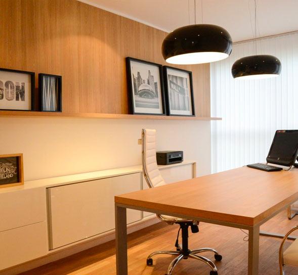 iluminacion en la oficina