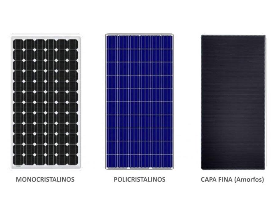 tipo de paneles solares