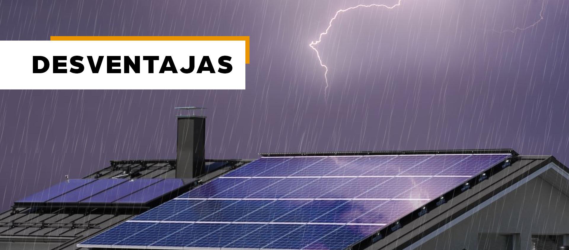 energia solar desventajas