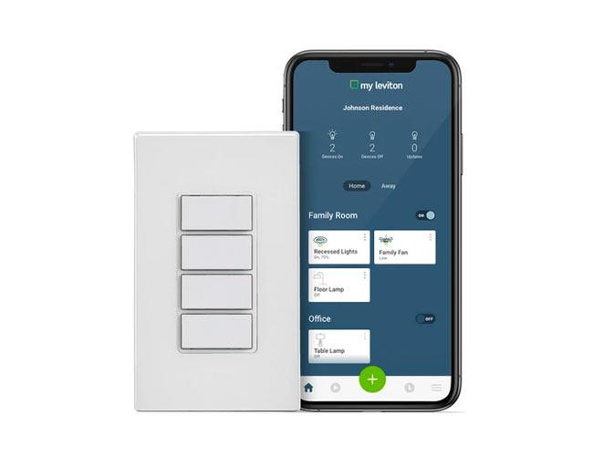 Apagador inteligente con 4 botones wifi DW4BC-001-1BW