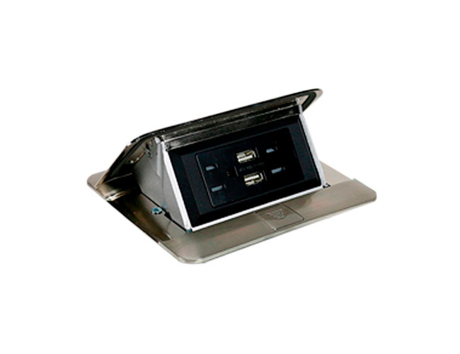 tomacorriente para escritorio con cargadores USB
